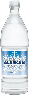 clear alaskan glacial water large bottle